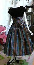 "1970-1980`s Patty O`Neil Rayon Taffeta ""New Look"" Evening Dress 1980 /1950"