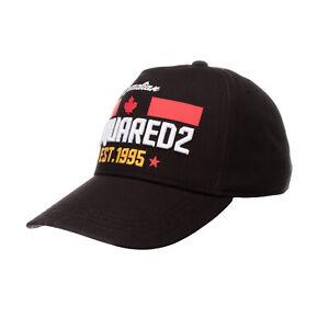 DSQUARED2 Kids Strapback Baseball Cap Size 3 L Embroidered & Coated Curved Peak