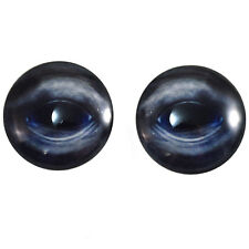 Pair of 40mm Blue Whale Glass Eyes Cabochon Set - Taxidermy, Jewelry, Doll Maker