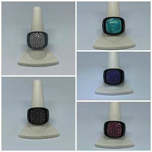 $1,950 David Yurman Black Titanium Silver Signet Ring Stone Variation With Pouch