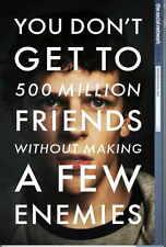 THE SOCIAL NETWORK Movie POSTER 27x40 B Jesse Eisenberg Andrew Garfield Rashida