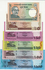 "BANGLADESH ""2/5/10/20/50/100 TAKA"" NOTE, TOTAL 6 NOTE SET--- UNC CONDITION"