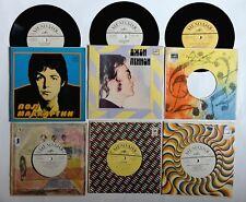 6 x Beatles / Paul McCartney / Wings / John Lennon - Russische Singles 7