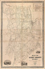 Map of Essex County NJ c1850 repro 24x36