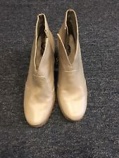 SoftWalk Women's Beige Leather Comfortable Heeled Booties Boot Size 9 N (US)