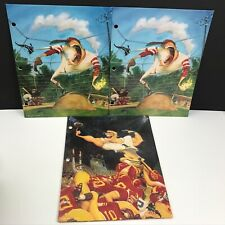 3 Mead BackStreets Portfolio Folders Baseball Football 90s School Sports 1996