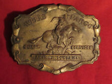 Wells Fargo Tiffany Belt Buckle Baker Industries