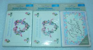 Bridal Shower 24 Invitation Notes Cards Carlton Envelopes Wedding Tips Checklist
