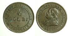 pcc1258_3) STATO PONTIFICIO  PIO IX  4 SOLDI 1867