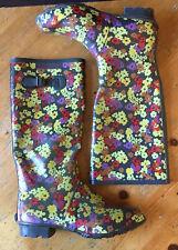 Peter Storm Floral Wellington Boots Wellies UK Size 8 Flowers