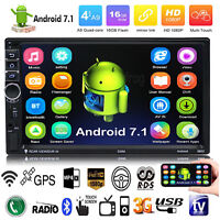 "Quad Core Android 7.1 3G WIFI 7"" Touch 2DIN Autoradio Stereo MP5 MP3 GPS Player"