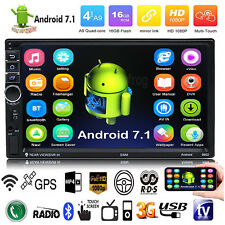 "Quad Core Android 7.1 3G WIFI 7 ""Double 2DIN Autoradio Stereo MP5 MP3 GPS Player"