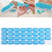 Plastik Medizinbox 31 Tage Pillendosen Pill Organizer Tabletten Dispenser Monat