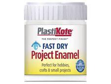 Plasti-kote - Fast Dry Enamel Paint B5 Bottle White Matt 59ml