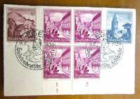 """EBS Sudetenland 1938 Sonderstempel Eger """"Sudetendeutsche Festspiele"""" 1267 cv $84"""