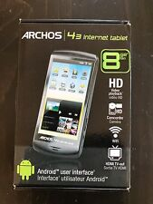 "Archos 4.3"" internet tab Wi-Fi HD camera HDMI TV Out Android  8GB"