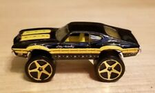 Vintage Mattel Hot Wheels Olds 442 Oldsmobile Black Yellow Diecast Toy car Rare