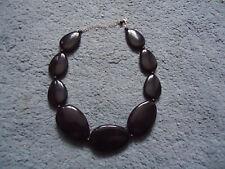 Costume Jewellery Black Statement Necklace 20 Inch