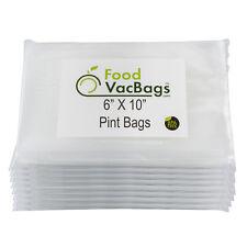 400 6X10 PINT FoodVacBags Food Storage Vacuum Sealer Bags for FoodSaver Embossed