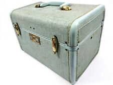 Vintage Samsonite Baby Blue Green Glitter Cosmetic Case Schwayder 4212 L33