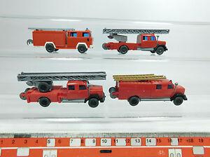 BB286-0,5# 4x Wiking H0/1:87 LKW Magirus-Deutz Feuerwehr/FW: 61 n+62 n etc, NEUW
