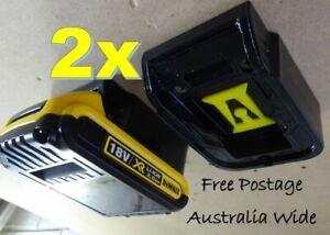 2x DeWalt 18v Battery Holder / Storage / Battery Mount - Innovation Australia
