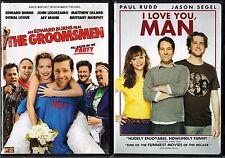 The Groomsmen (DVD, 2006) & I Love You, Man (DVD, 2009, Sensormatic); 2 Comedies