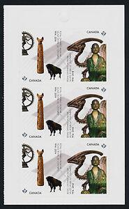 Canada 2726a Right Booklet Pane MNH - Royal Ontario Museum, Dinosaur, Art