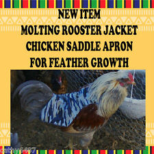 1 Molting Rooster Jacket Chicken Saddle Apron Hatching Eggs Back Protection Usa