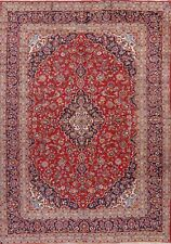 Vintage Traditional Floral Ardakan Oriental Area Rug Hand-Knotted Carpet 10'x14'