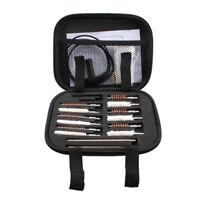 Rifle Pistol Gun Brush Cleaning Kit 16PCS Airsoft Short Gun Copper Brush w/Box K