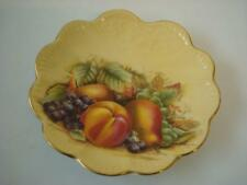 AYNSLEY ORCHARD GOLD SMALL WAVY EDGE PLATE 5.75""
