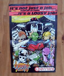 PIRATE CORP$ It's A Lousy Job! Eternity Comics Promotional Poster 1987 Promo