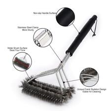 """BBQ Cleaning Grill Brush 18"""" Barbecue Cleaner Stainless Steel Wire Brush Tool US"""