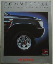 Toyota Hilux Liteace & Hiace Van Pickup & 4WD 1990 Original UK Sales Brochure