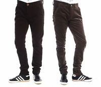 Mens slim fit corduroys trousers cotton rich EC1