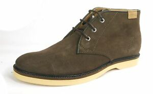Lacoste Sherbrooke Brown Leather Mens Lace Up Boots