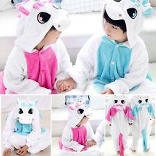 Déguisement Licorne Pyjama Combinaison Enfants Fille Garçon Flanelle Cosplay