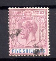 Bahamas 1921-37 5/- dull purple & blue fine used SG124 WS16607