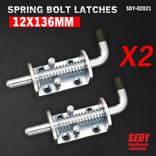 2x Spring Bolt Latch Catch Zinc Plated Trailer Truck Ute Float RAILING Tail Gate
