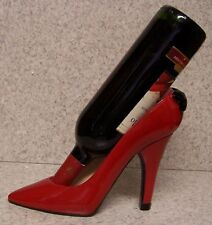 Wine Bottle Holder and/or Decorative Sculpture Party Shoe Red High Heel NEW