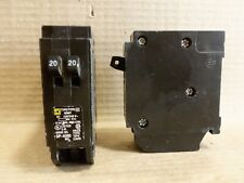 Square D Homt Homt2020 1 Pole 120/240V 20 Amp Twin Circuit Breaker Flawed