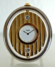 Clock OFFICE / ready for installation Quartz - Oval - Brass - Strass - Jaccard