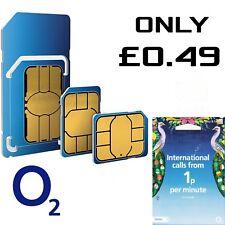O2 International SIM Rete pay as you go 02 SIM SIGILLATA 02