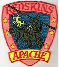 """GUNSHIP """"Red Skins"""" Boeing ATTACK HELICOPTER AH-64 APACHE LONGBOW Iron-on PATCH"""