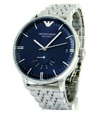 Emporio Armani AR4658 MECCANICO Automatic Blue Dial Silver Stainless Watch $445