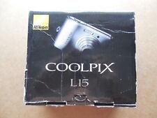 Digicam Marke Nikon Coolpix L15 8MP - funktioniert mit normalen AA Batterien