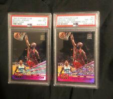 1993 94 Michael Jordan - Topps Stadium Club Beam Team Members Only & base PSA 8