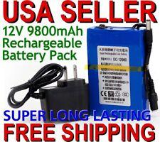 Pro DC12V 9800mAh Rechargeable Portable Li-ion Battery US Plug Battery Pack EG