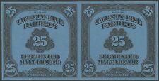 #Rea196 Xf Pair 1947 Series 25 Barrels Beer Stamps Cv $2,200 Wl9029